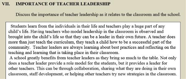 Leadership Essay - Melissa Torrens - Teachers As Leaders - Gwinnett ...